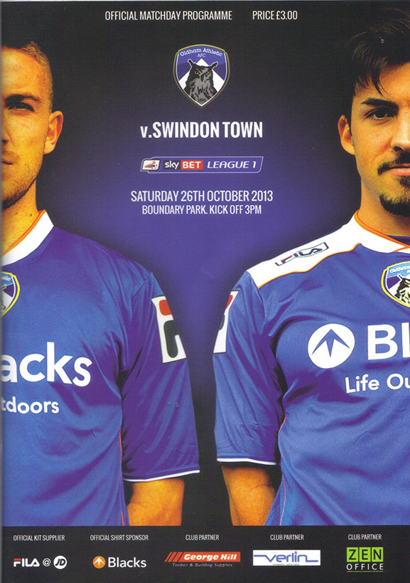 <b>Saturday, October 26, 2013</b><br />vs. Oldham Athletic (Away)