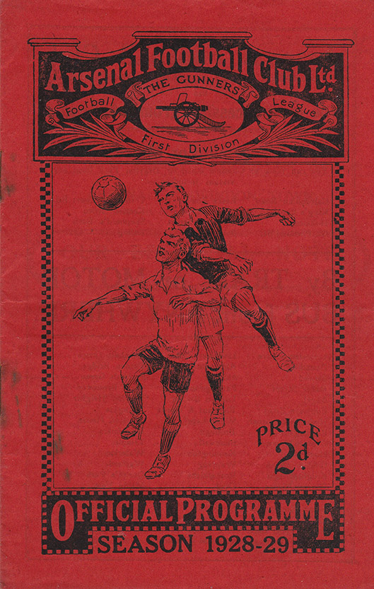 Wednesday, February 20, 1929 - vs. Arsenal (Away)