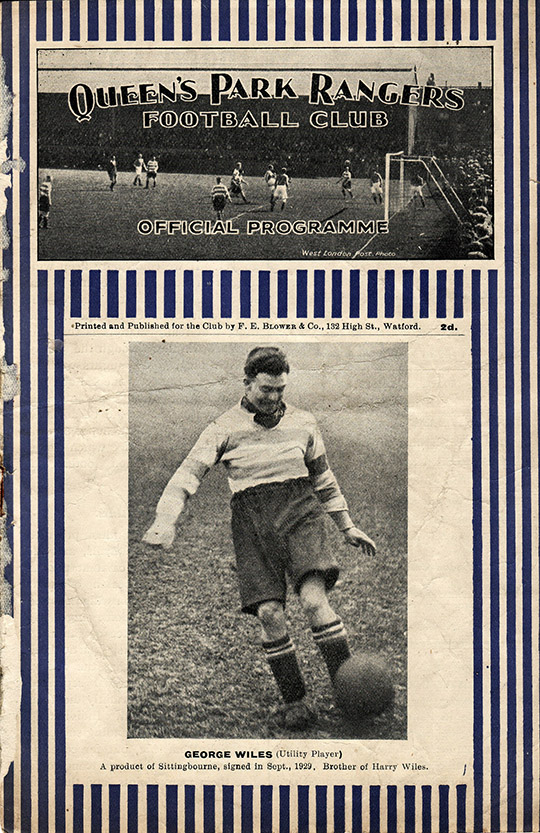 Saturday, February 14, 1931 - vs. Queens Park Rangers (Away)