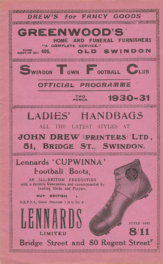 Saturday, February 21, 1931 - vs. Southend United (Home)