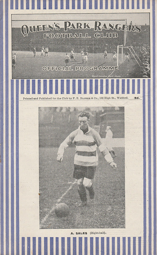 Thursday, September 10, 1931 - vs. Queens Park Rangers (Away)