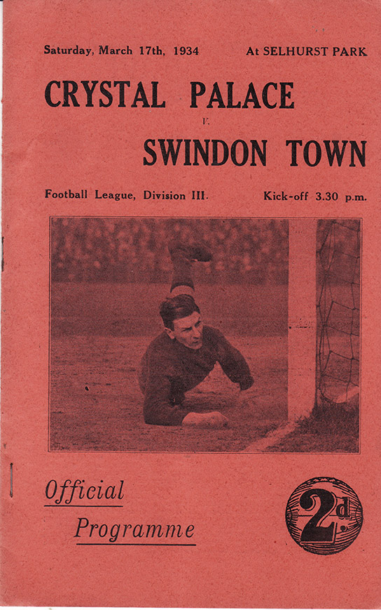 Saturday, March 17, 1934 - vs. Crystal Palace (Away)