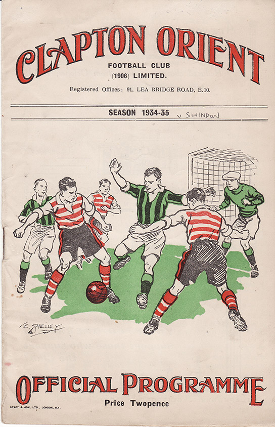 Saturday, November 3, 1934 - vs. Clapton Orient (Away)