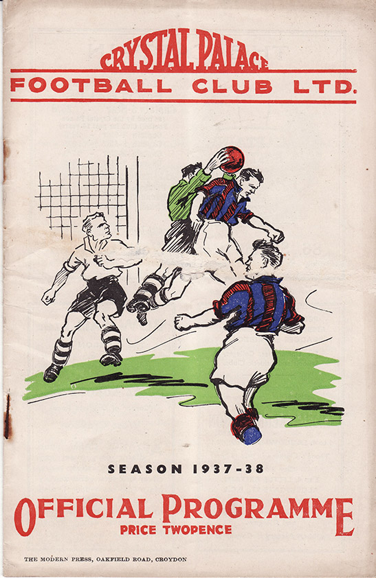<b>Wednesday, September 8, 1937</b><br />vs. Crystal Palace (Away)