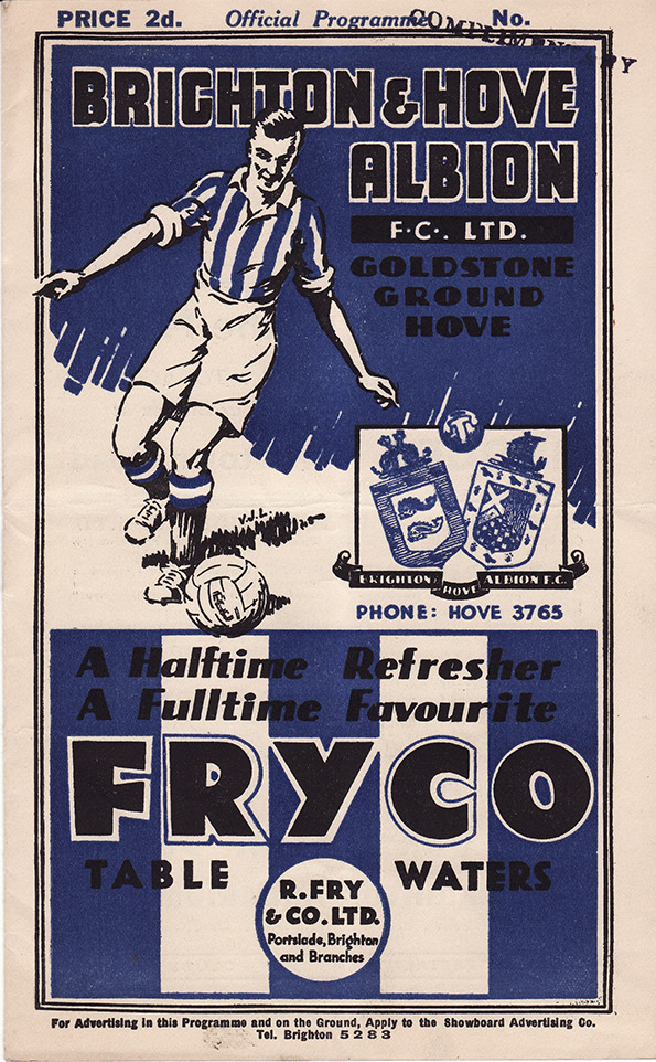 <b>Saturday, December 4, 1937</b><br />vs. Brighton and Hove Albion (Away)