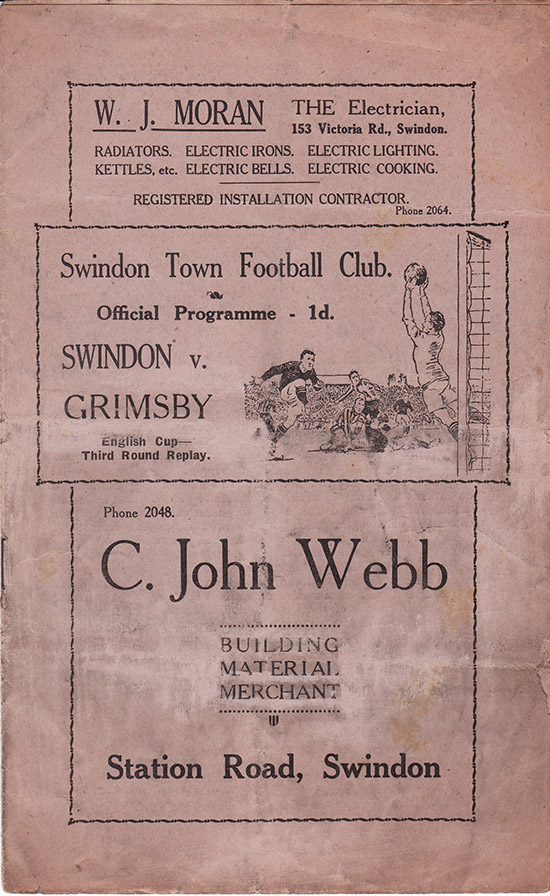 Wednesday, January 12, 1938 - vs. Grimsby Town (Home)