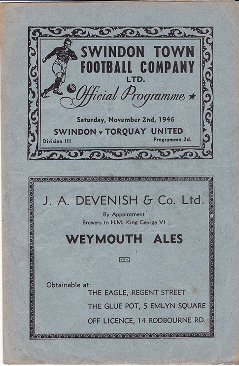<b>Saturday, November 2, 1946</b><br />vs. Torquay United (Home)