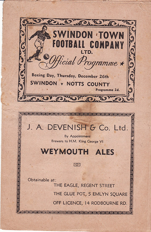 <b>Thursday, December 26, 1946</b><br />vs. Notts County (Home)