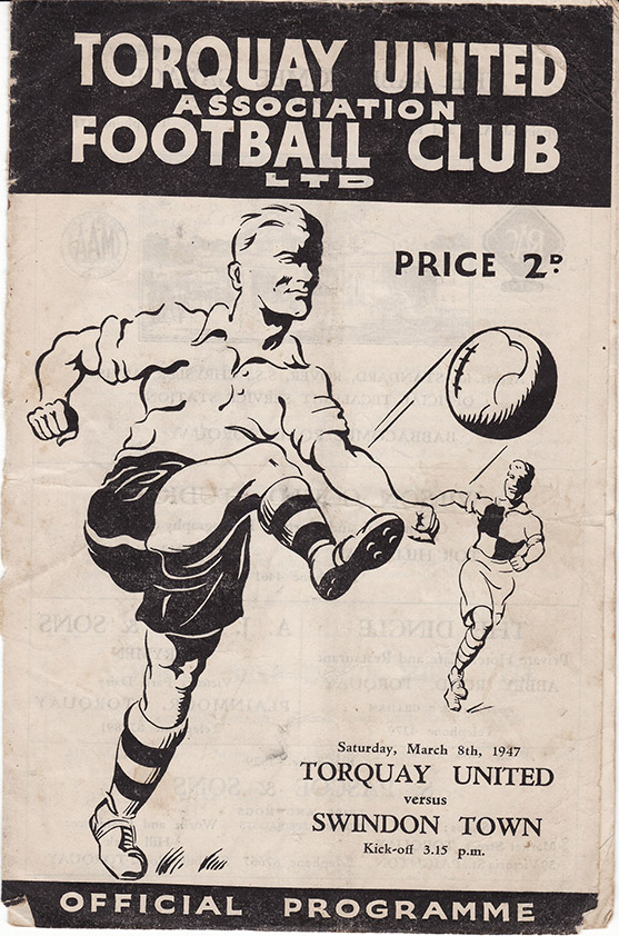 <b>Saturday, March 8, 1947</b><br />vs. Torquay United (Away)
