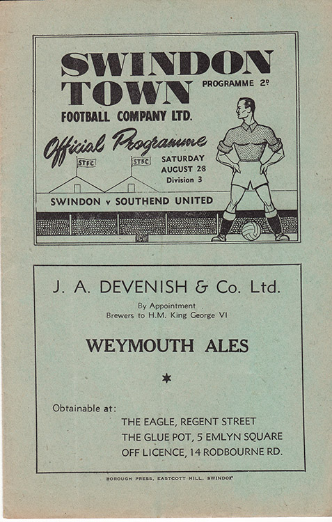 Saturday, August 28, 1948 - vs. Southend United (Home)
