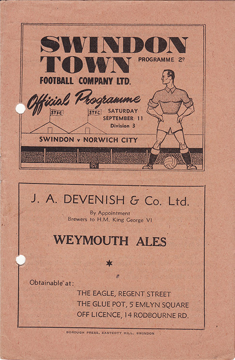 Saturday, September 11, 1948 - vs. Norwich City (Home)