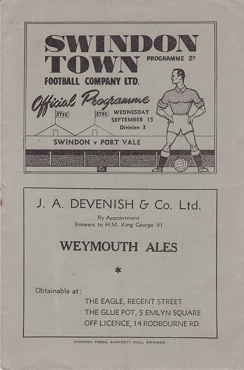 Wednesday, September 15, 1948 - vs. Port Vale (Home)