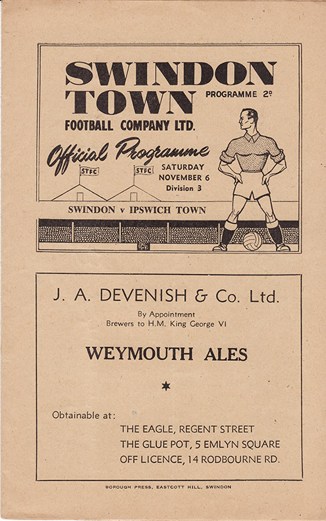 Saturday, November 6, 1948 - vs. Ipswich Town (Home)