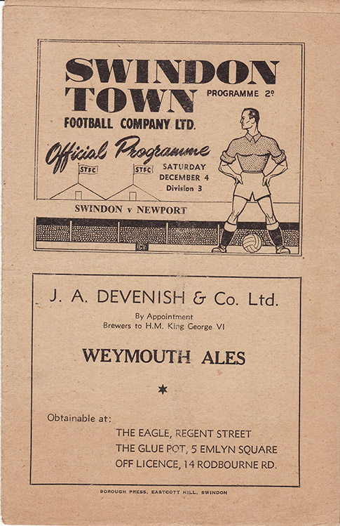 Saturday, December 4, 1948 - vs. Newport County (Home)