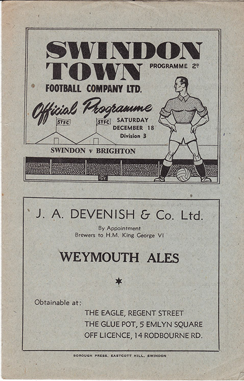 Saturday, December 18, 1948 - vs. Brighton and Hove Albion (Home)