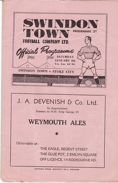 Saturday, January 8, 1949 - vs. Stoke City (Home)