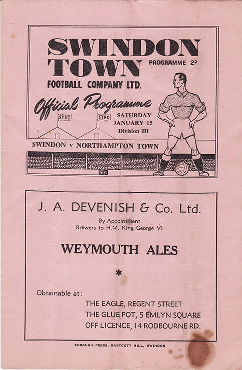 Saturday, January 15, 1949 - vs. Northampton Town (Home)