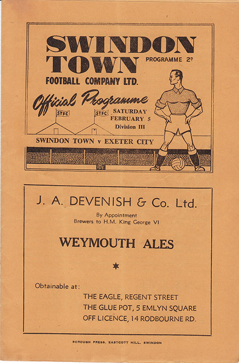 Saturday, February 5, 1949 - vs. Exeter City (Home)