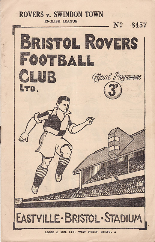 Saturday, March 5, 1949 - vs. Bristol Rovers (Away)