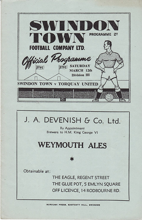 Saturday, March 12, 1949 - vs. Torquay United (Home)