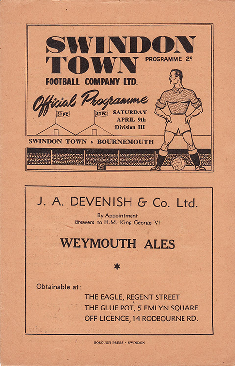 Saturday, April 9, 1949 - vs. Bournemouth and Boscombe Athletic (Home)