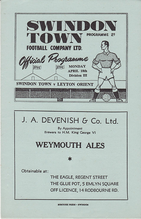 Monday, April 18, 1949 - vs. Leyton Orient (Home)