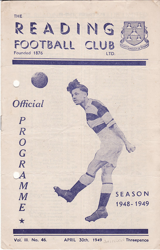 Saturday, April 30, 1949 - vs. Reading (Away)