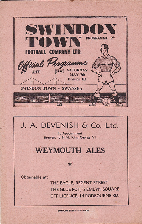 Saturday, May 7, 1949 - vs. Swansea Town (Home)