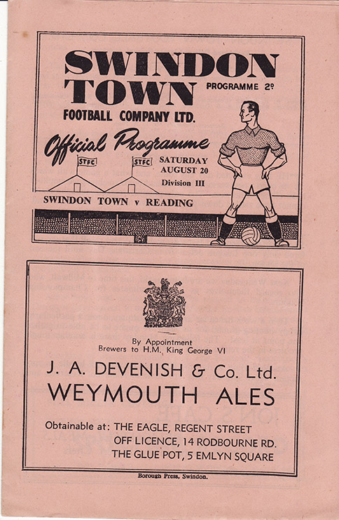 Saturday, August 20, 1949 - vs. Reading (Home)