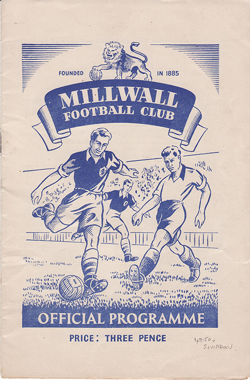 Monday, August 29, 1949 - vs. Millwall (Away)