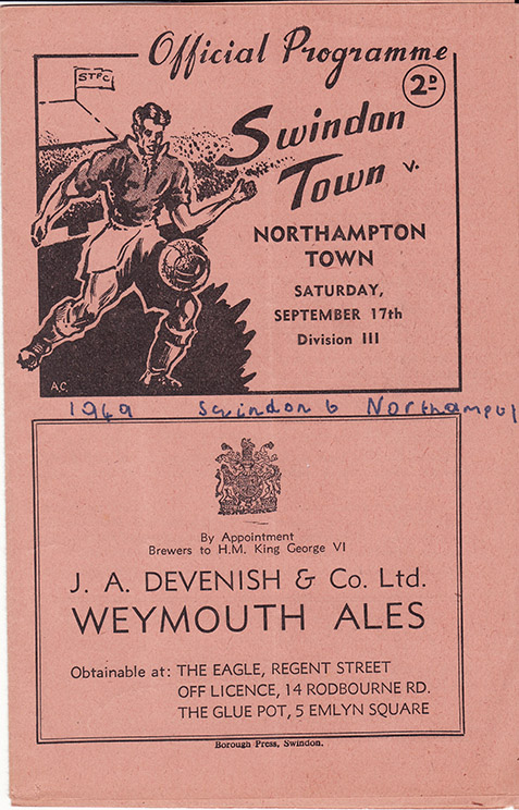 Saturday, September 17, 1949 - vs. Northampton Town (Home)