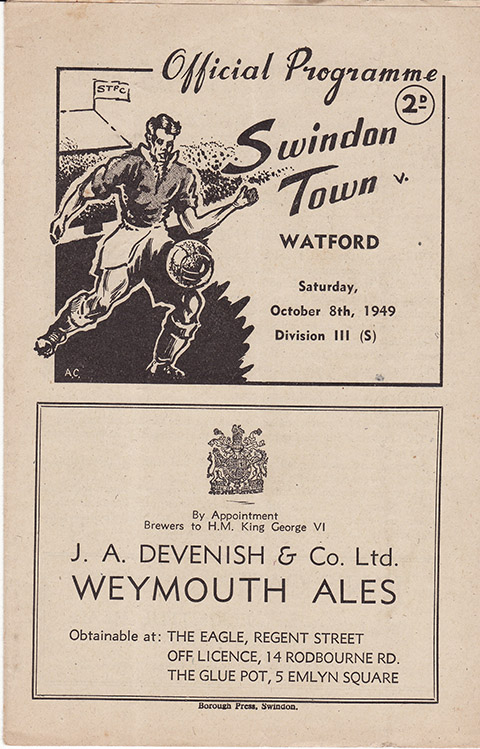 Saturday, October 8, 1949 - vs. Watford (Home)