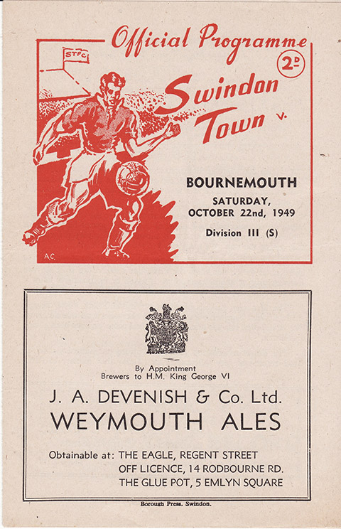 Saturday, October 22, 1949 - vs. Bournemouth and Boscombe Athletic (Home)