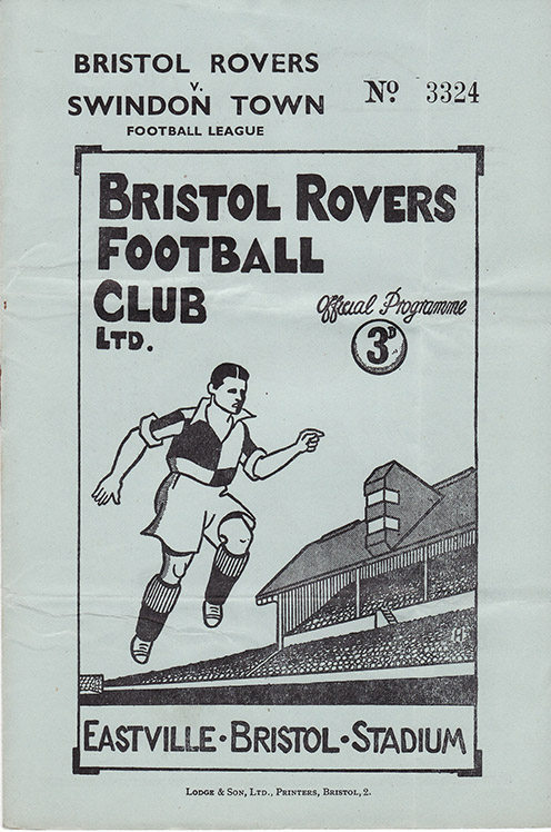 Saturday, October 29, 1949 - vs. Bristol Rovers (Away)
