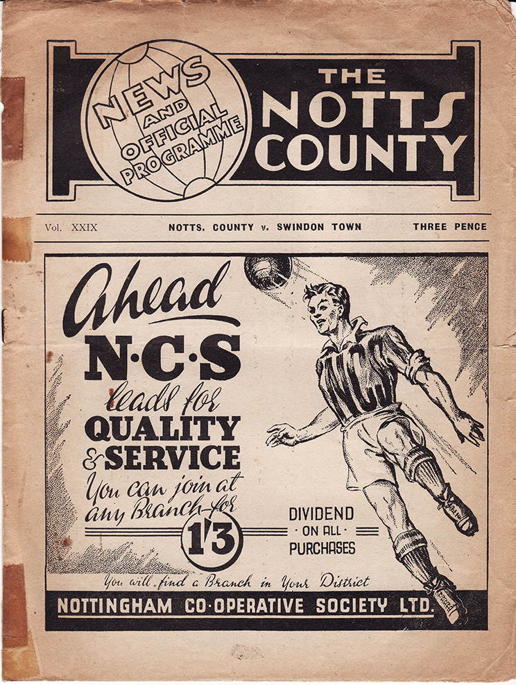 Saturday, November 12, 1949 - vs. Notts County (Away)