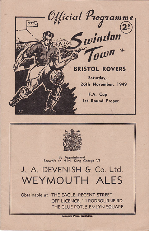 Saturday, November 26, 1949 - vs. Bristol Rovers (Home)