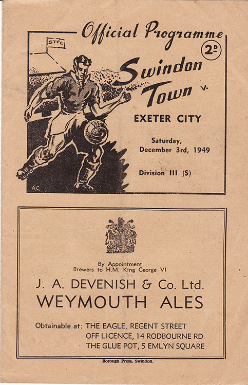 Saturday, December 3, 1949 - vs. Exeter City (Home)