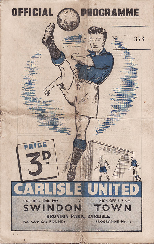 Saturday, December 10, 1949 - vs. Carlisle United (Away)