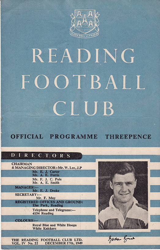 Saturday, December 17, 1949 - vs. Reading (Away)
