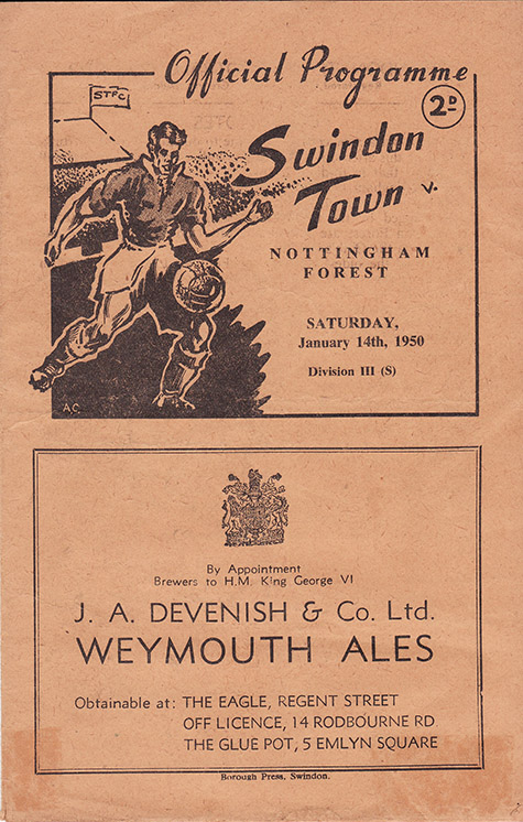 Saturday, January 14, 1950 - vs. Nottingham Forest (Home)