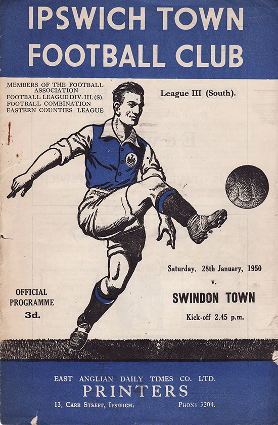 Saturday, January 28, 1950 - vs. Ipswich Town (Away)