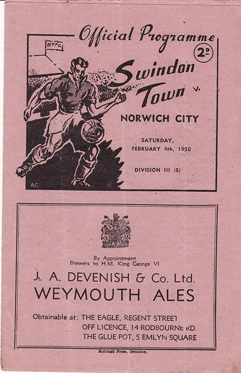 Saturday, February 4, 1950 - vs. Norwich City (Home)
