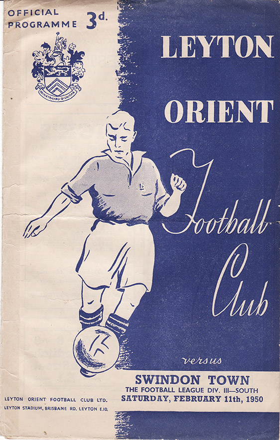 Saturday, February 11, 1950 - vs. Leyton Orient (Away)