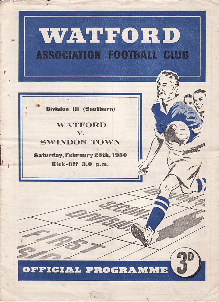 Saturday, February 25, 1950 - vs. Watford (Away)