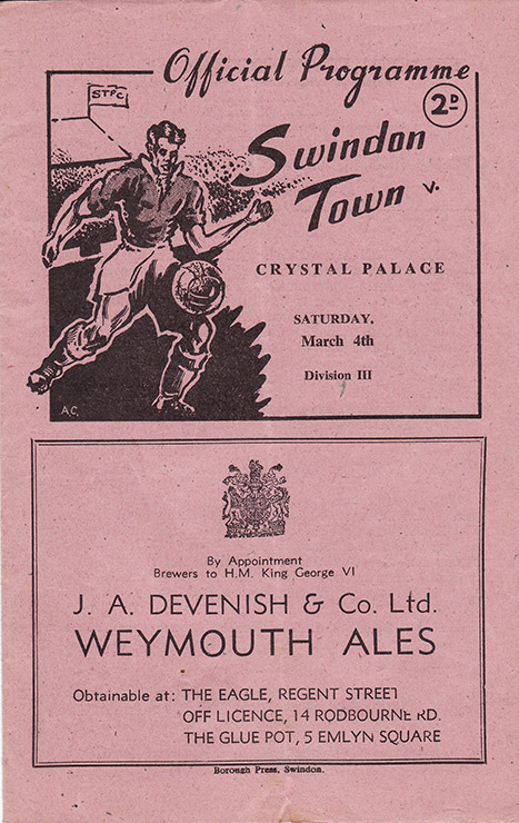 Saturday, March 4, 1950 - vs. Crystal Palace (Home)