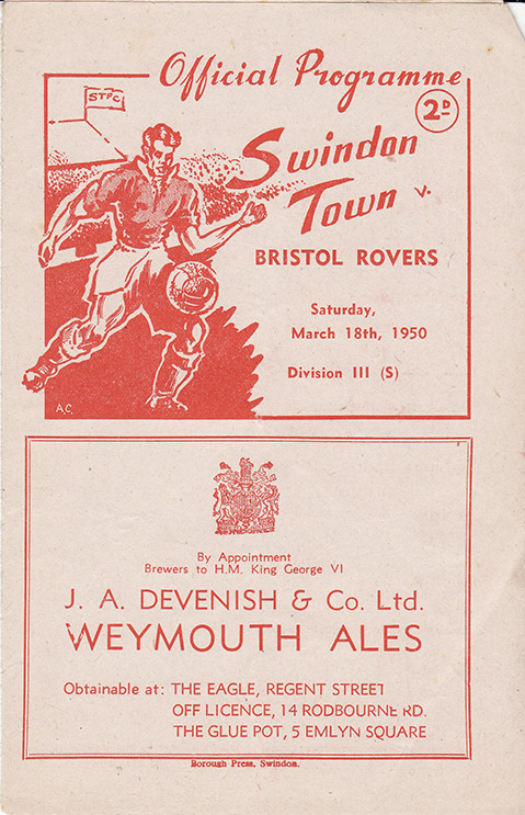 Saturday, March 18, 1950 - vs. Bristol Rovers (Home)