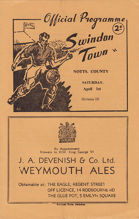 Saturday, April 1, 1950 - vs. Notts County (Home)