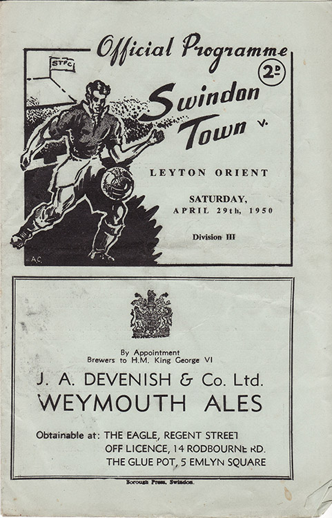 Saturday, April 29, 1950 - vs. Leyton Orient (Home)