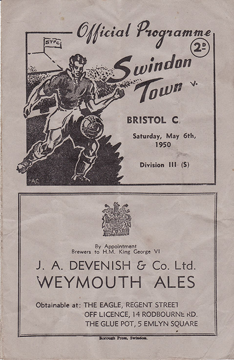 Saturday, May 6, 1950 - vs. Bristol City (Home)