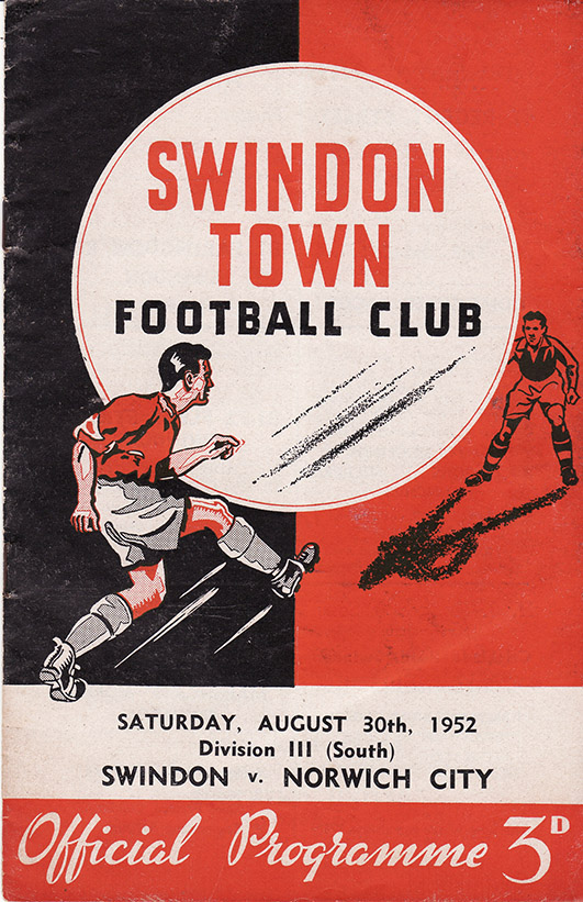 Saturday, August 30, 1952 - vs. Norwich City (Home)